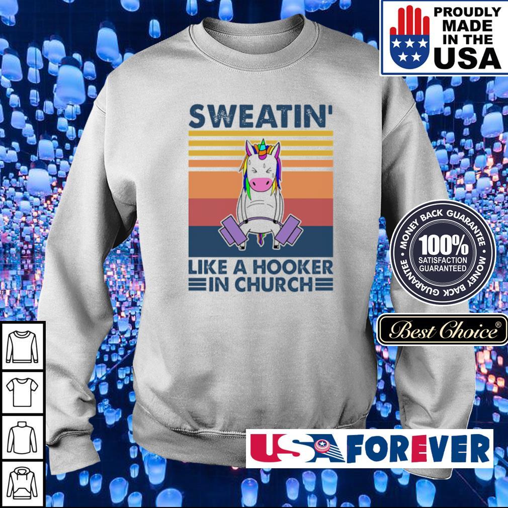 Sweatin' like a hooker in church vintage s sweater