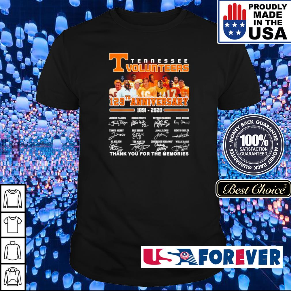 Tennessee Volunteers 127th anniversary thank you for the memories shirt