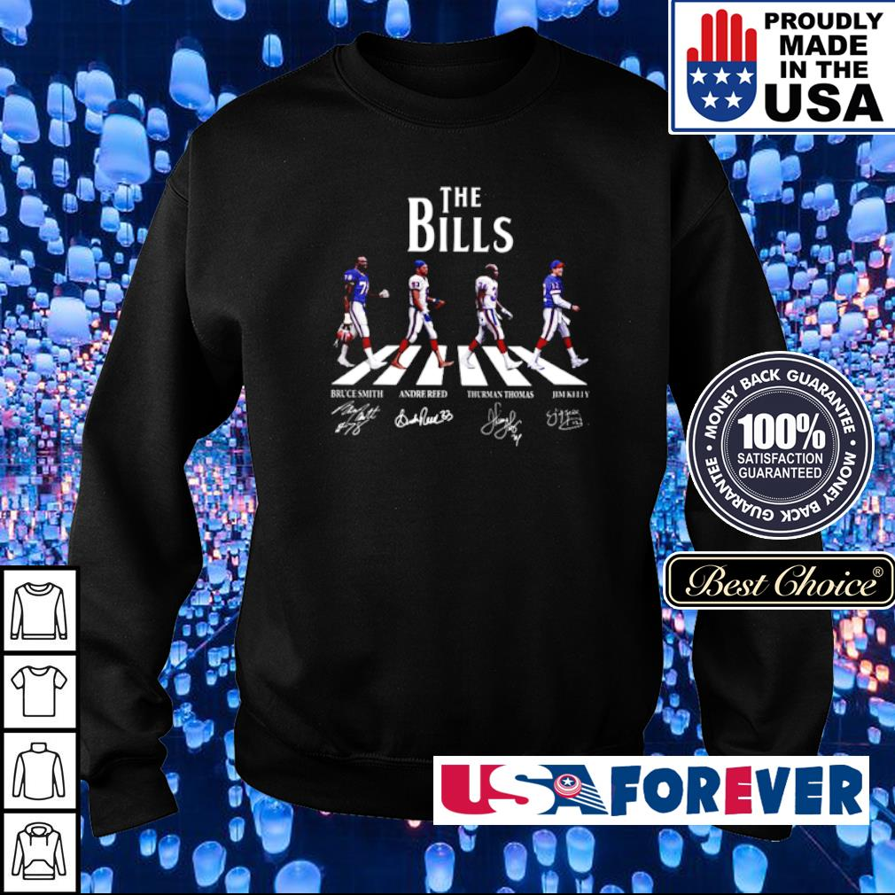 The Bills Bruce Smith, Andre Reed, Thurman Thomas, Jim Kelly s sweater