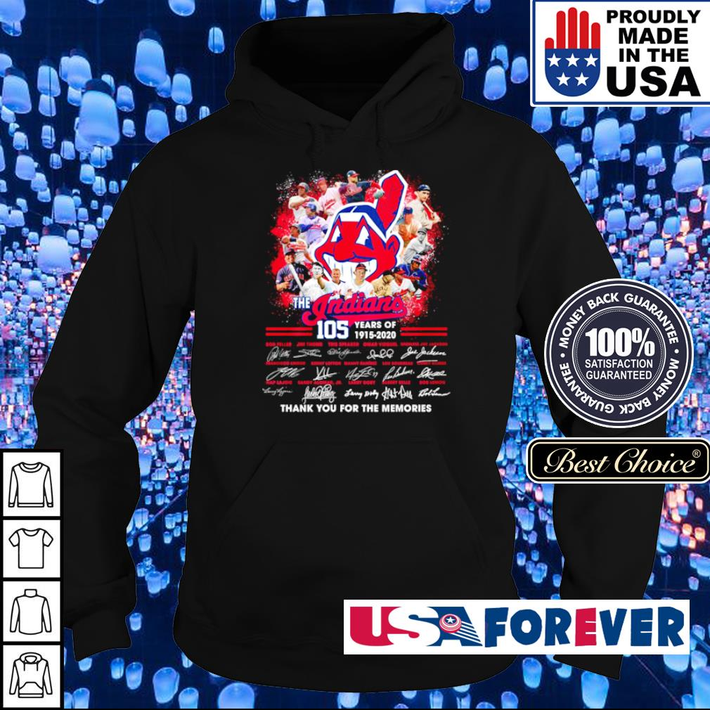 The Cleveland Indians 105 year thank you for the memories s hoodie