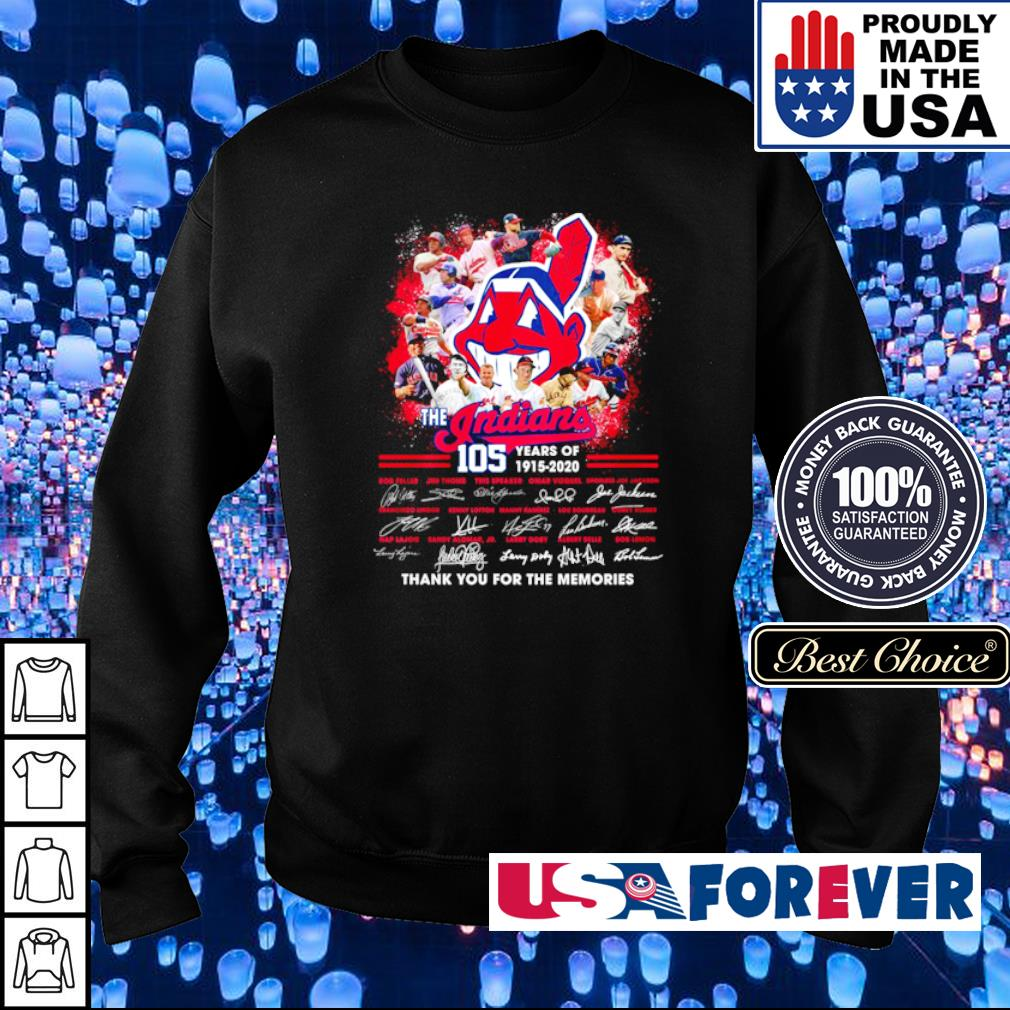 The Cleveland Indians 105 year thank you for the memories s sweater