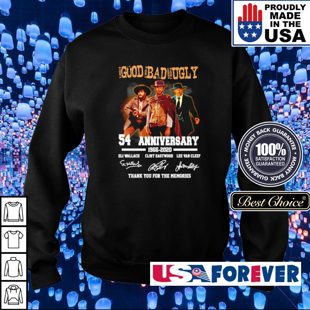 The Good The Bad and The Ugly 54 anniveersary thank you for the memories s sweater