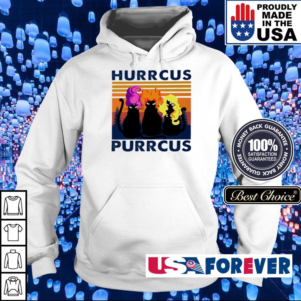 Three cat hurrcus purrcus vintage s hoodie
