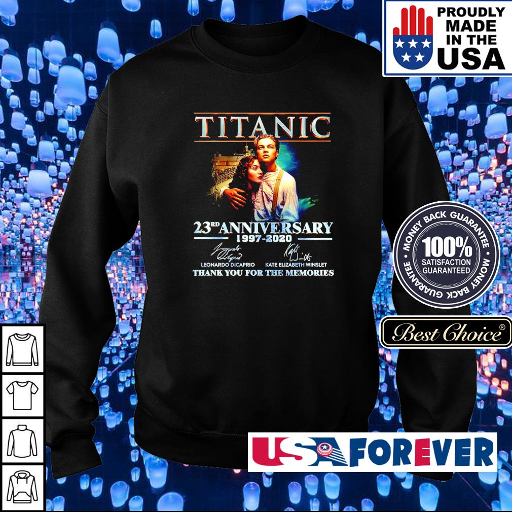 Titanic 23rd anniversary 1997-2020 thank you for the memories s sweater