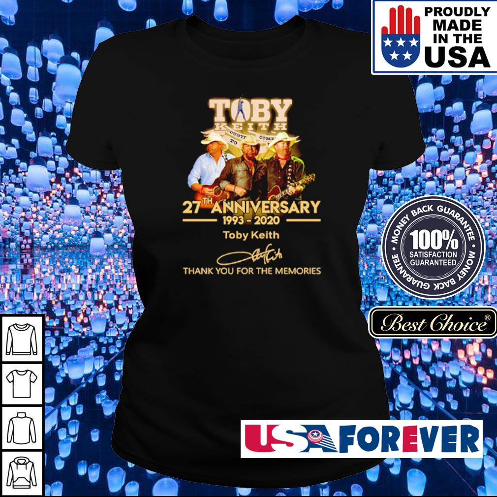 Toby Keith 27th anniversary thank you for the memories s ladies
