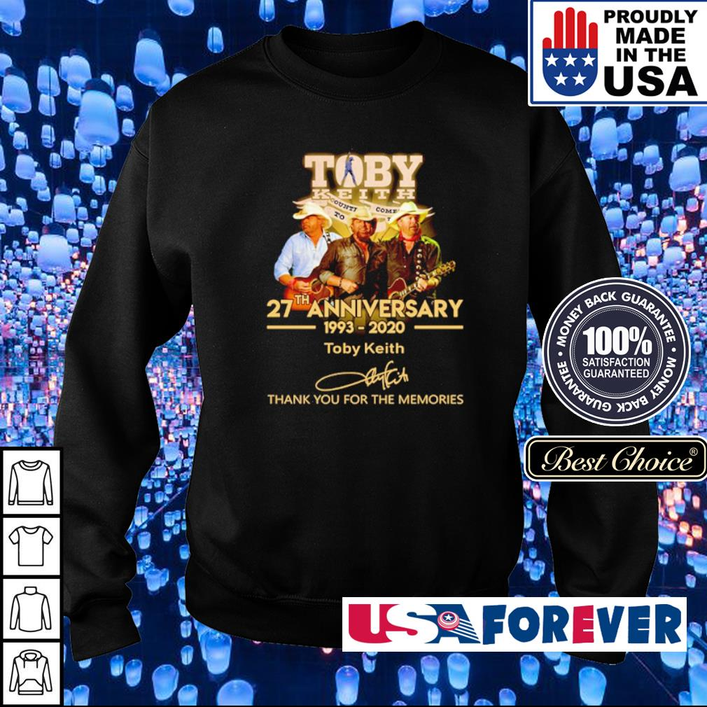 Toby Keith 27th anniversary thank you for the memories s sweater