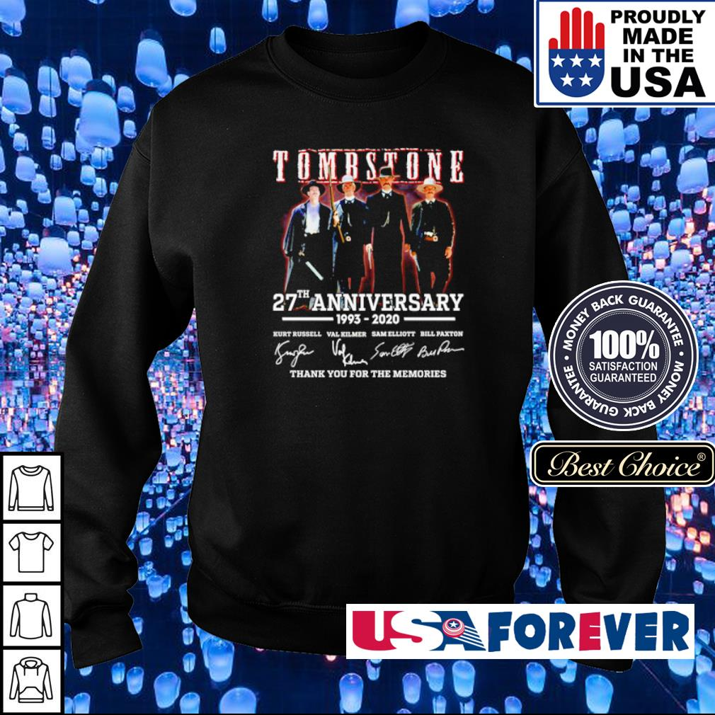 Tombstone 27th anniversary thank you for the memories s sweater