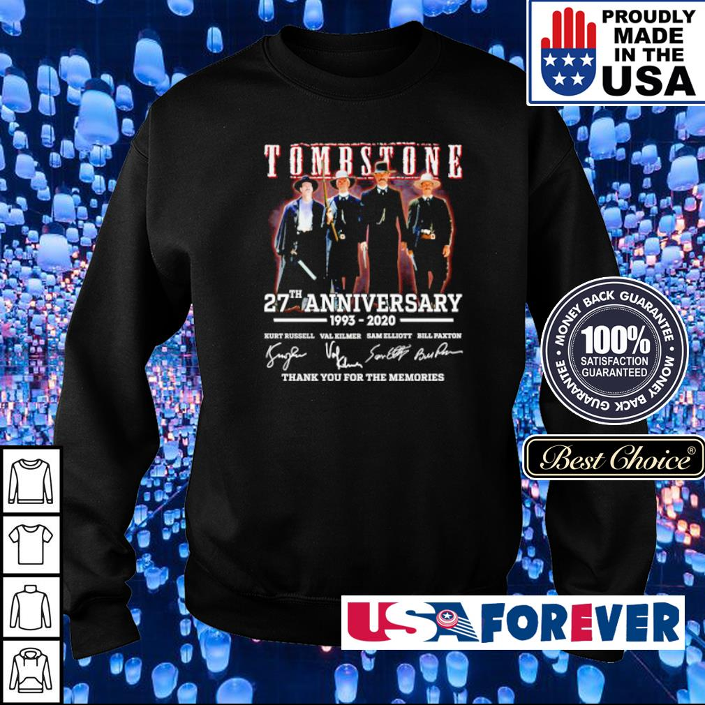 Tombstone 27th anniversary thank you for the memories signatures s sweater
