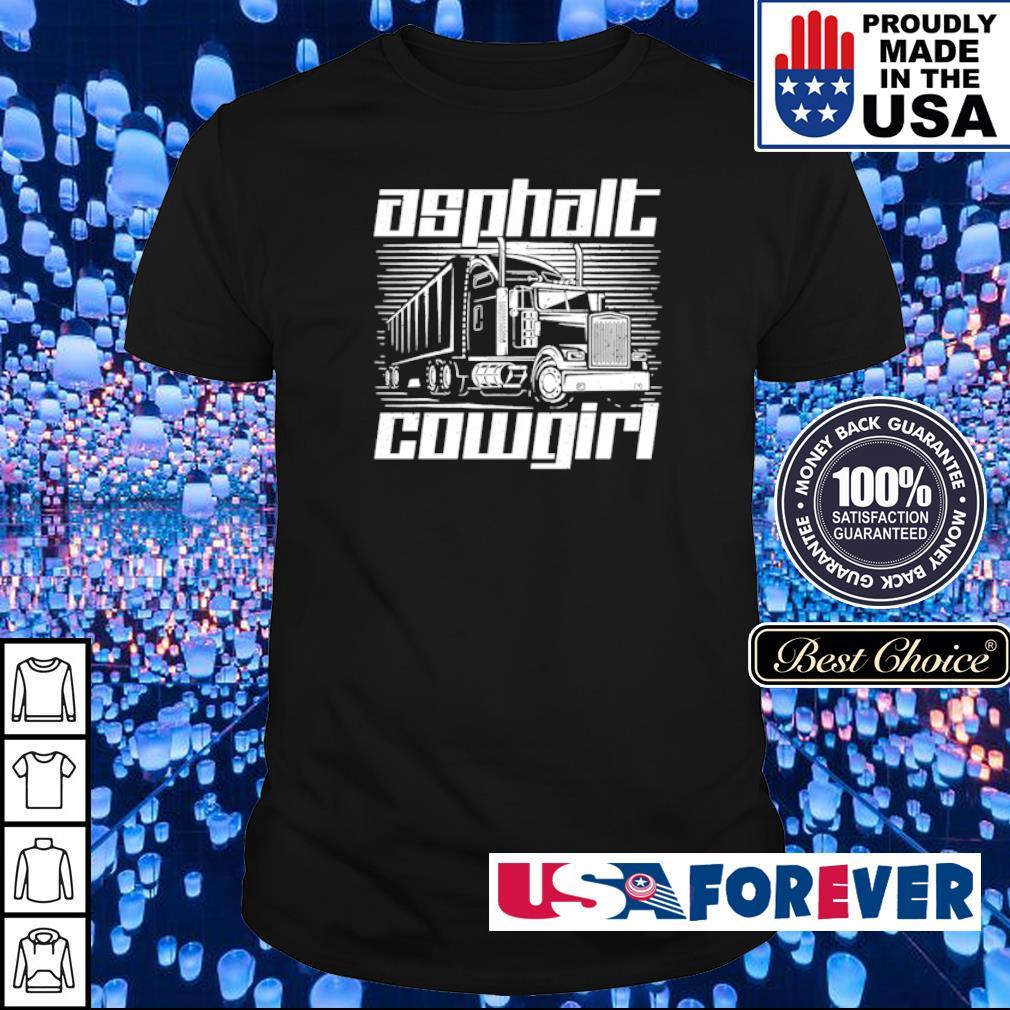 Truck asphalt cowgirl shirt