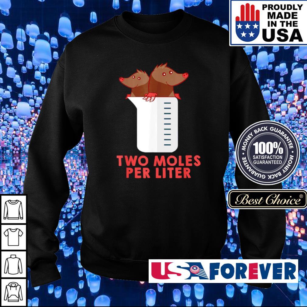 Two moles per liter s sweater