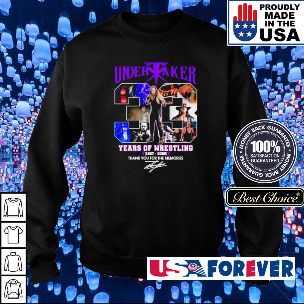 Under Taker years of Wrestling thank you for the memories s sweater