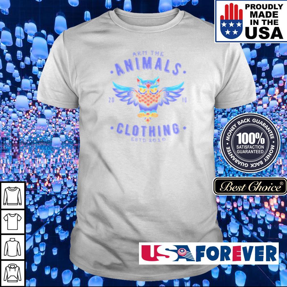 Varsity Owl Arm the animals clothing est 2010 shirt
