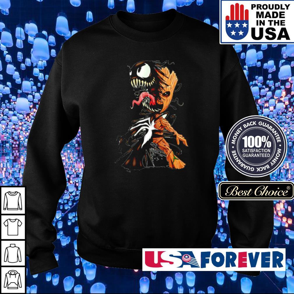 Venom inside Baby Groot s sweater
