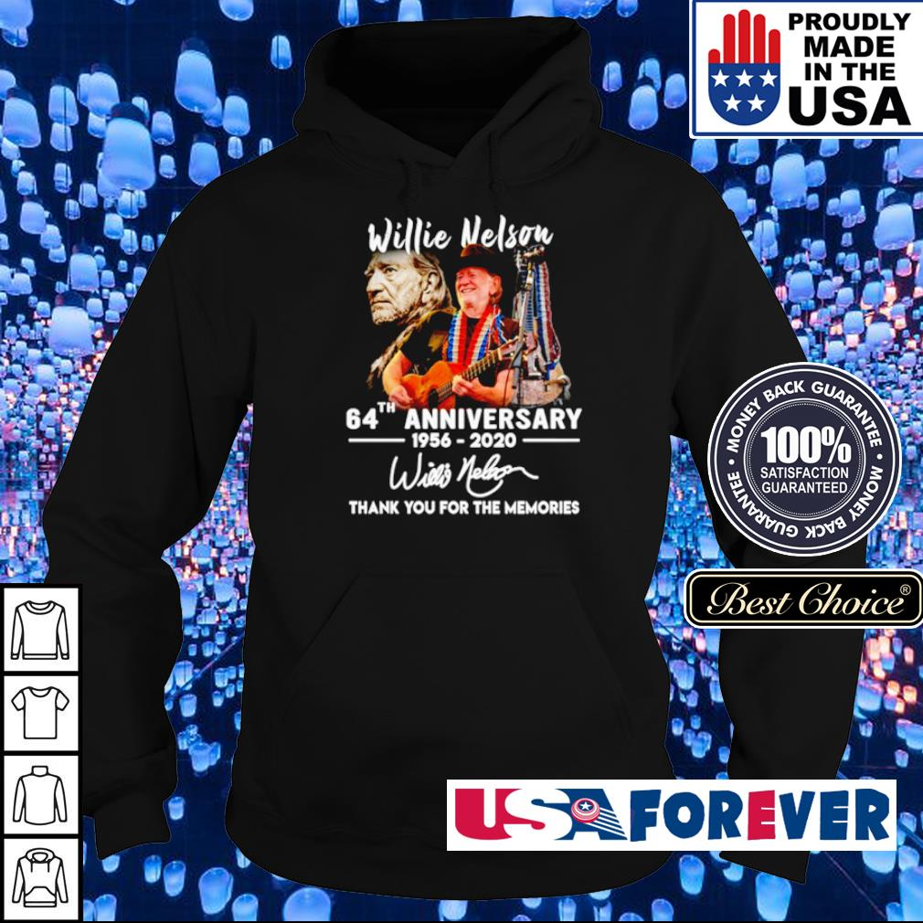 Willie Nelson 64th anniversary thank you for the memories s hoodie