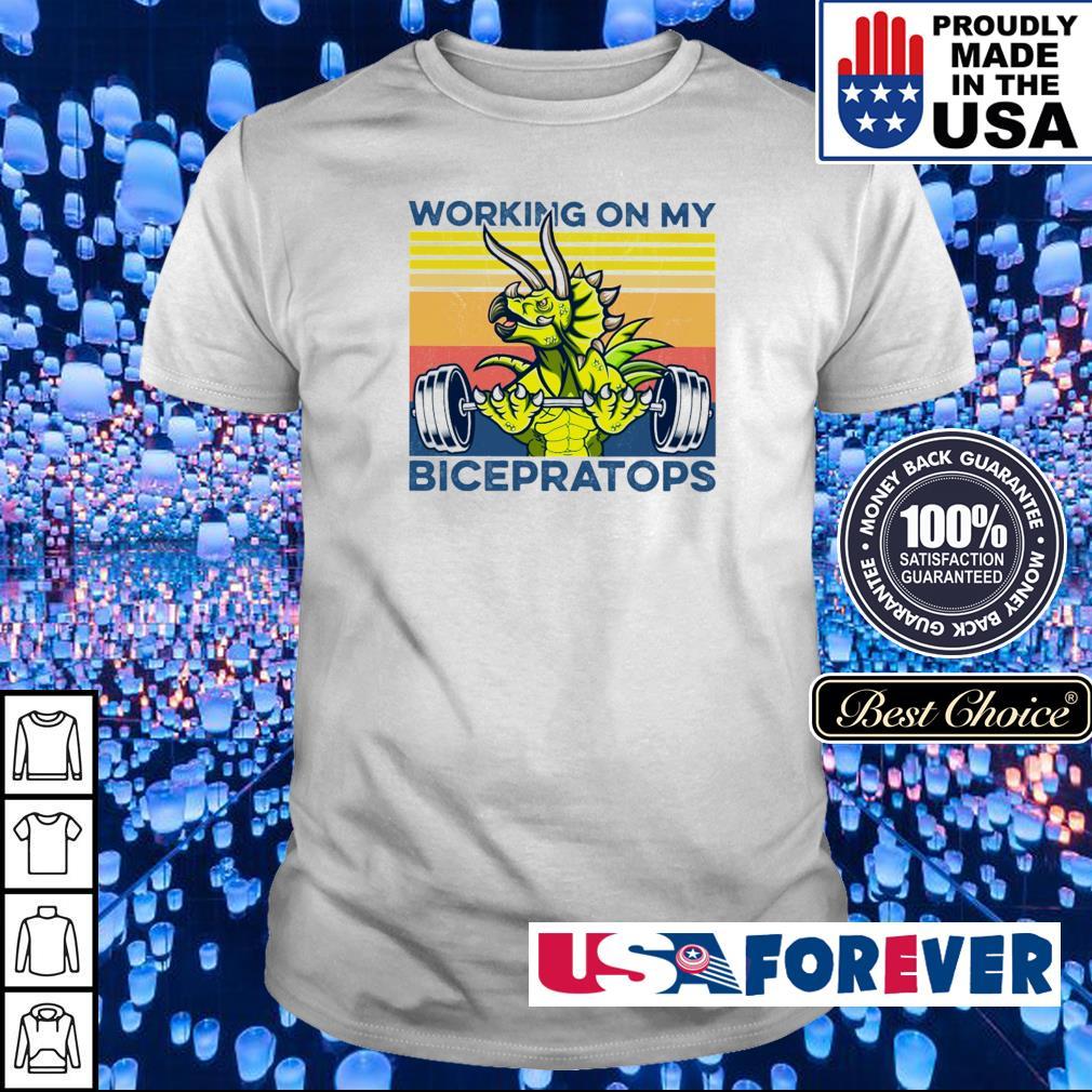 Working on my bicepratops vintage shirt
