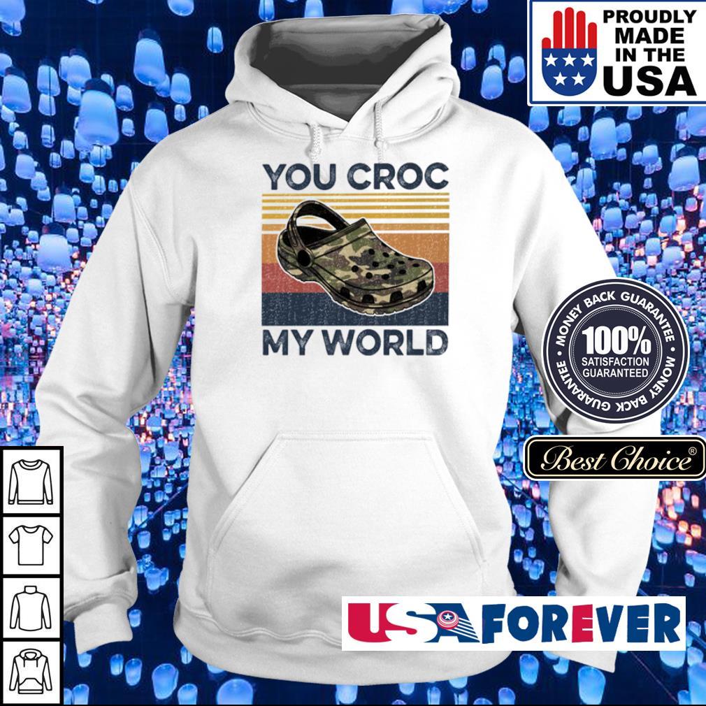 You croc my world vintage s hoodie