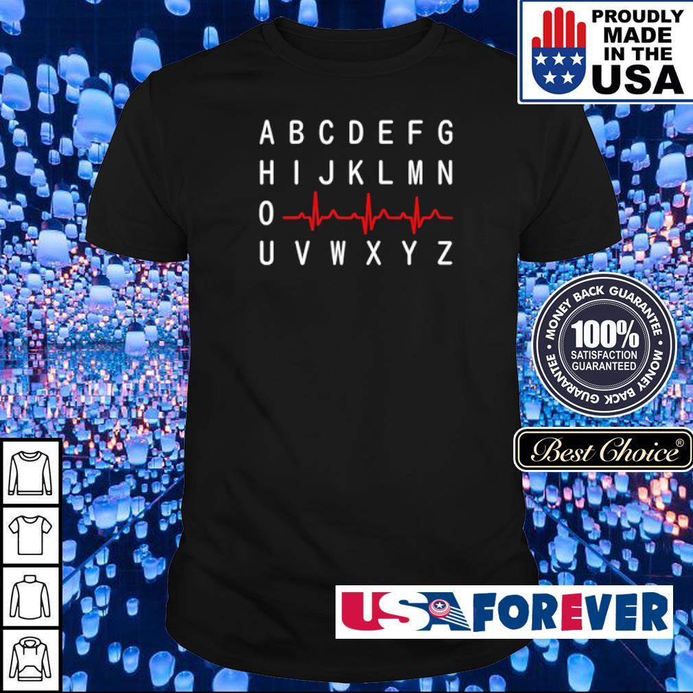 A B C D E F G H I J K L M N O heartbeat shirt