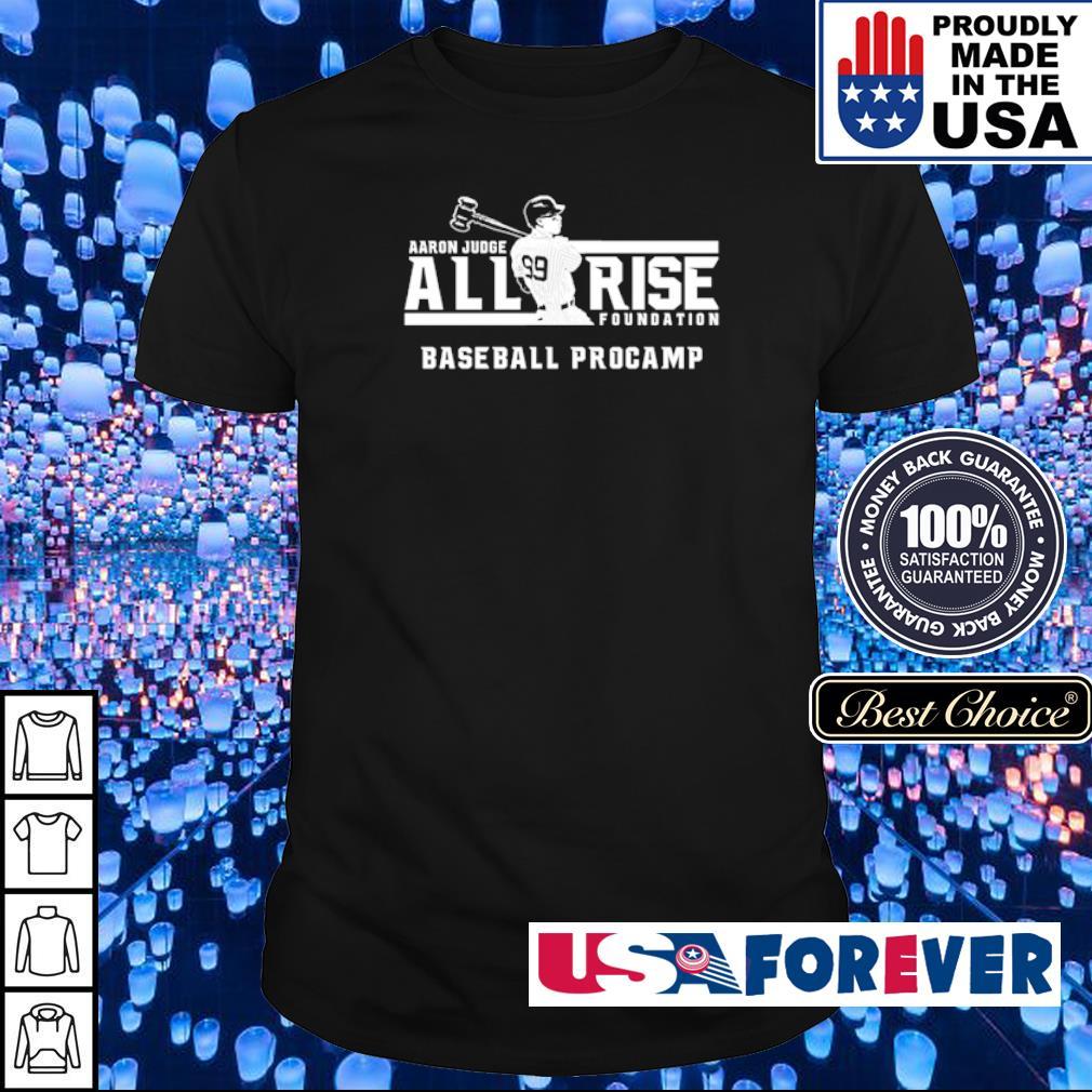 Aaron Judge all rise foundation baseball procamp shirt