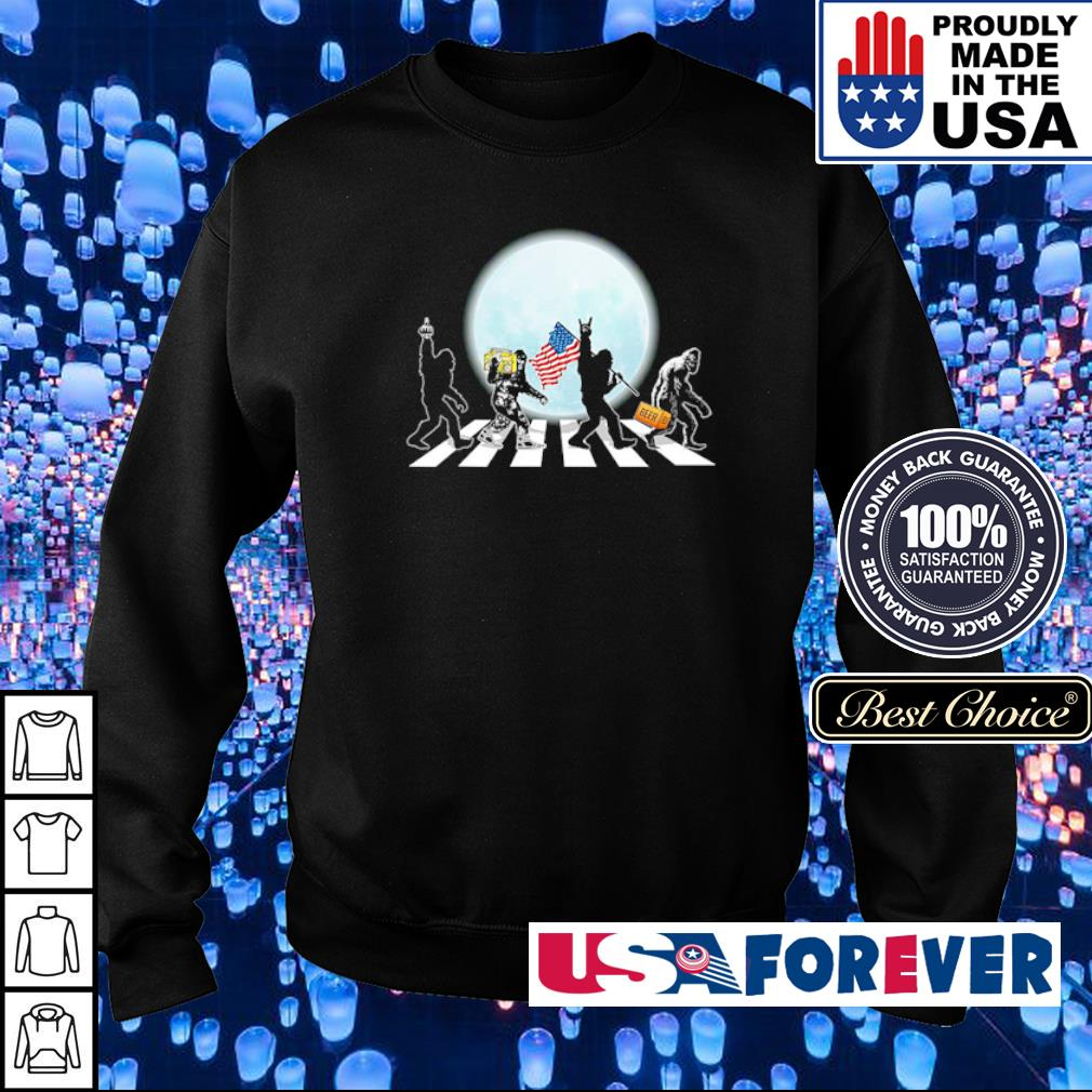 Abbey Road Big Foot American Flag Beer s sweater
