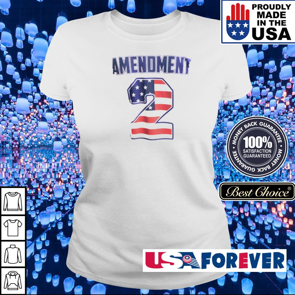 American Flag Amendment 2 s ladies