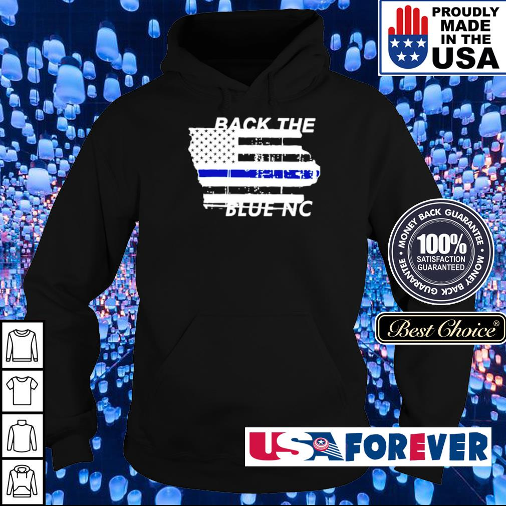 American Flag Back The Blue NC s hoodie