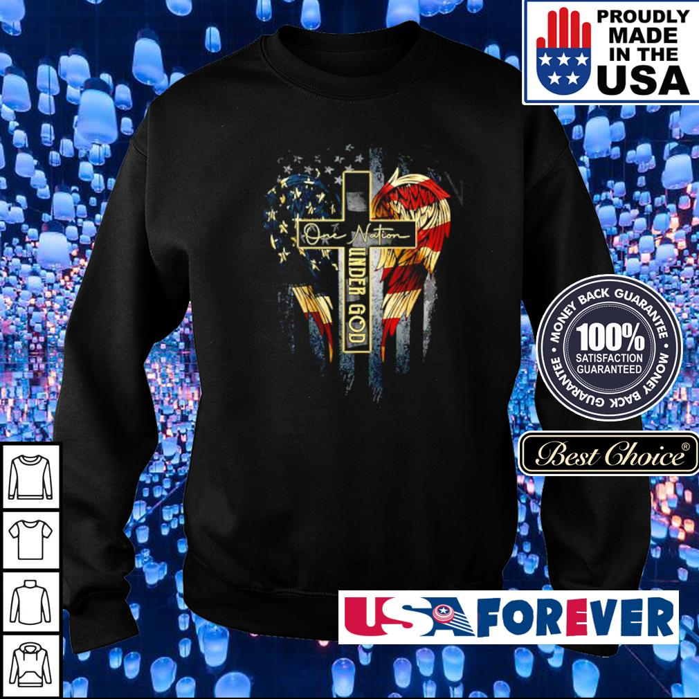 American Flag Wings one nation under God s sweater