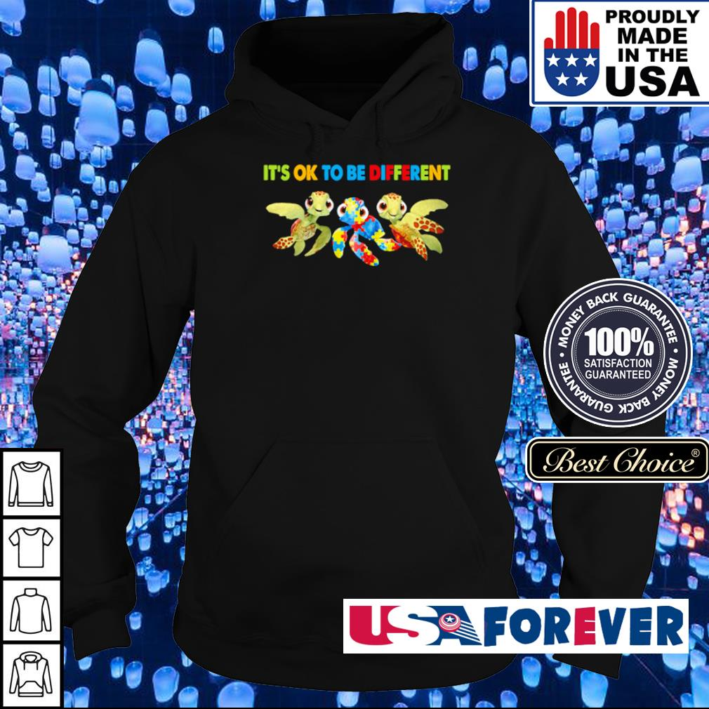 Autism Awareness turtle it's ok to be different s hoodie