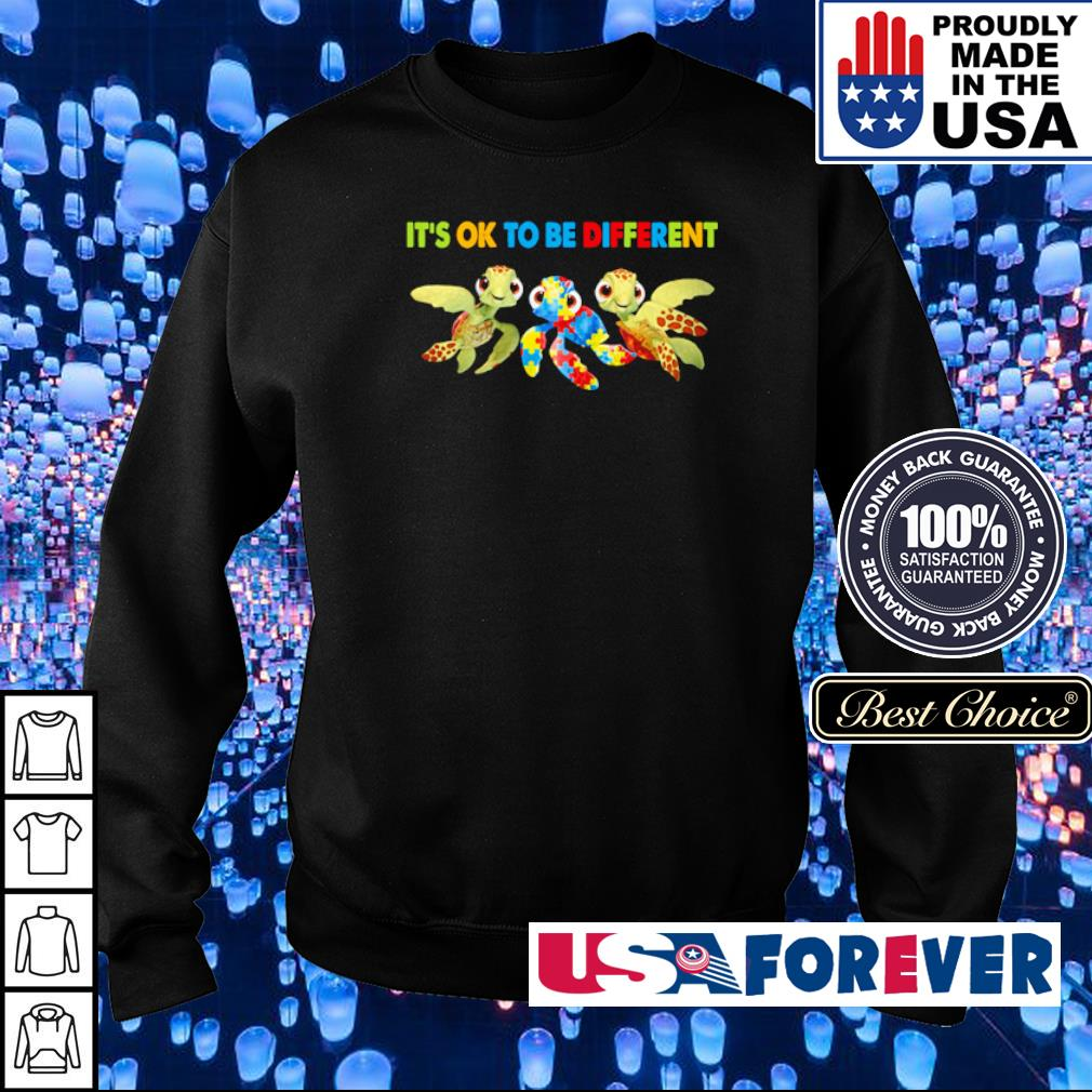 Autism Awareness turtle it's ok to be different s sweater