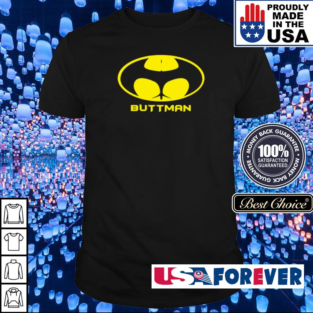 Awesome Batman logo Buttman shirt