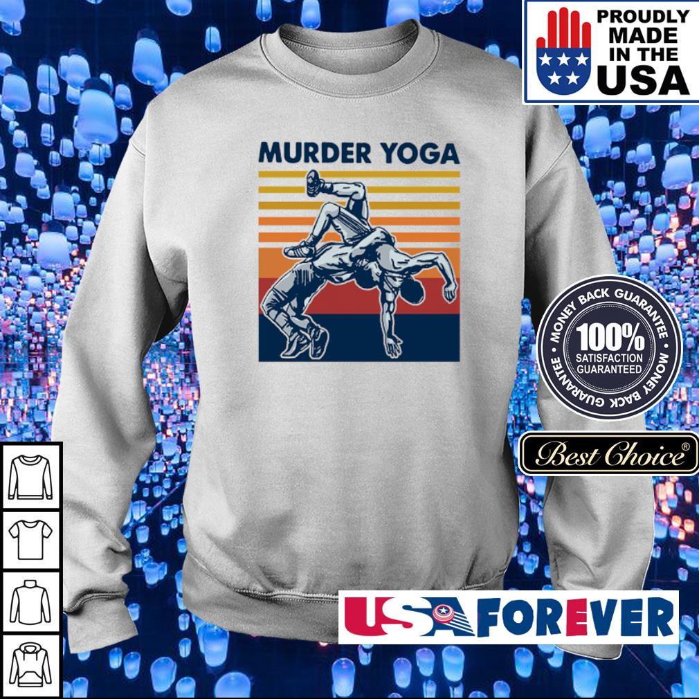 Awesome Murder Yoga vintage s sweater