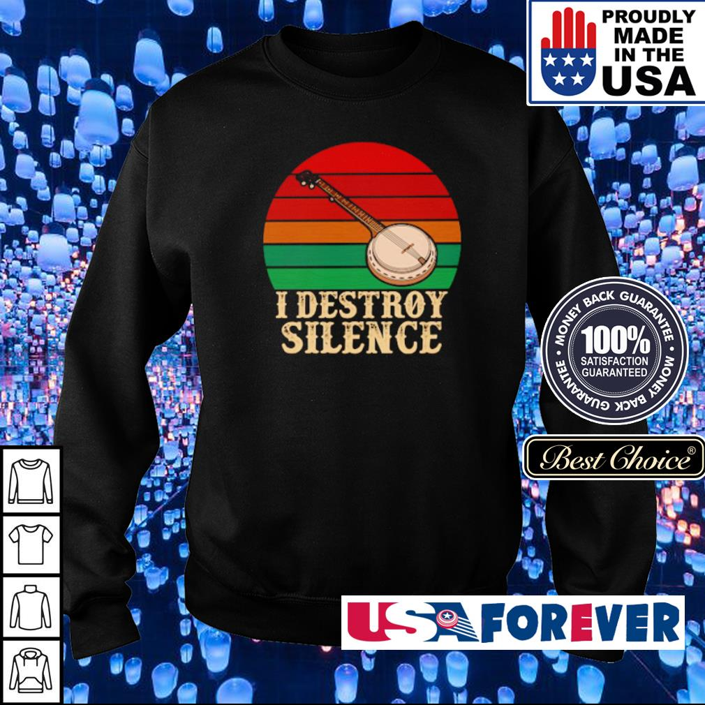 Banjo I destroy silence vintage s sweater