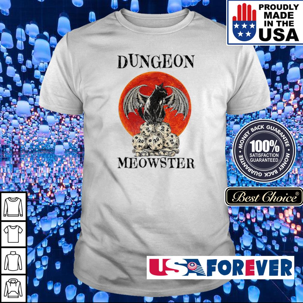 Black cat dungeon Meowster shirt