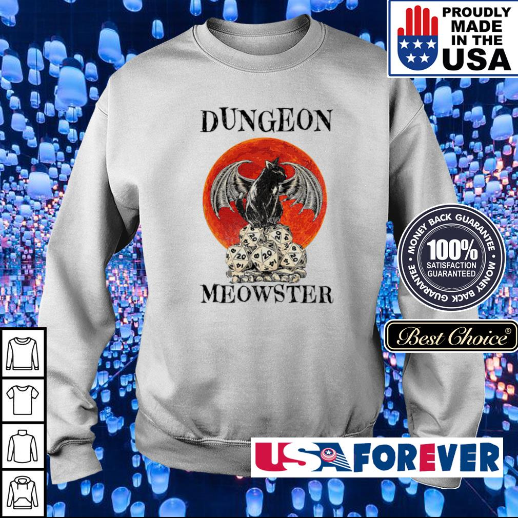 Black cat dungeon Meowster s sweater