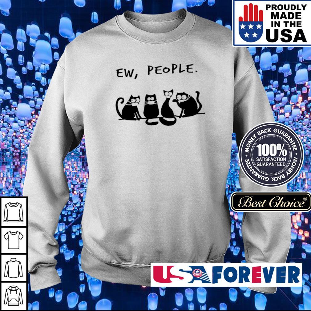Black cat wearing mask ew people s sweater