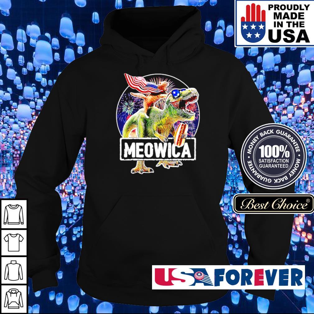Car riding T Rex Meowica s hoodie