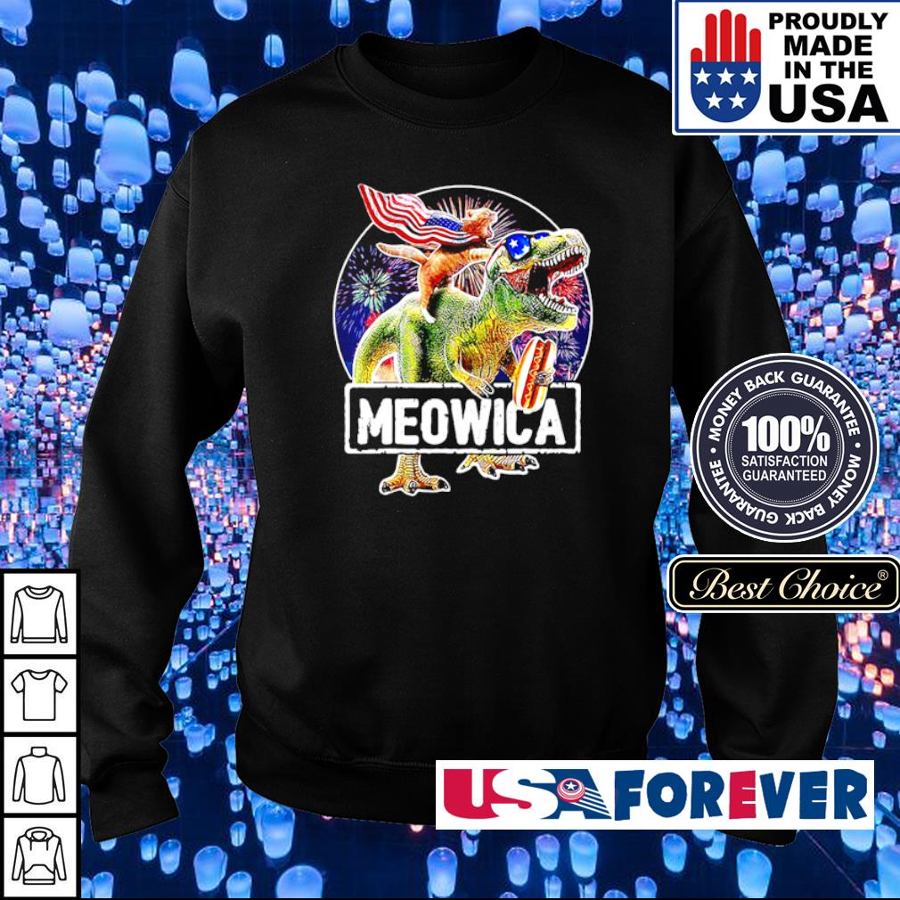 Car riding T Rex Meowica s sweater