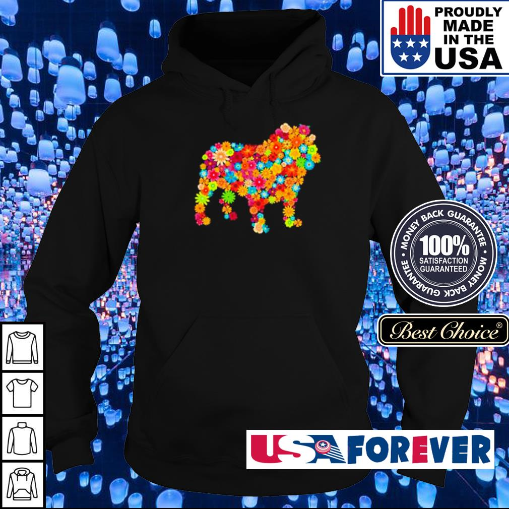 Colorful flowers dogs s hoodie