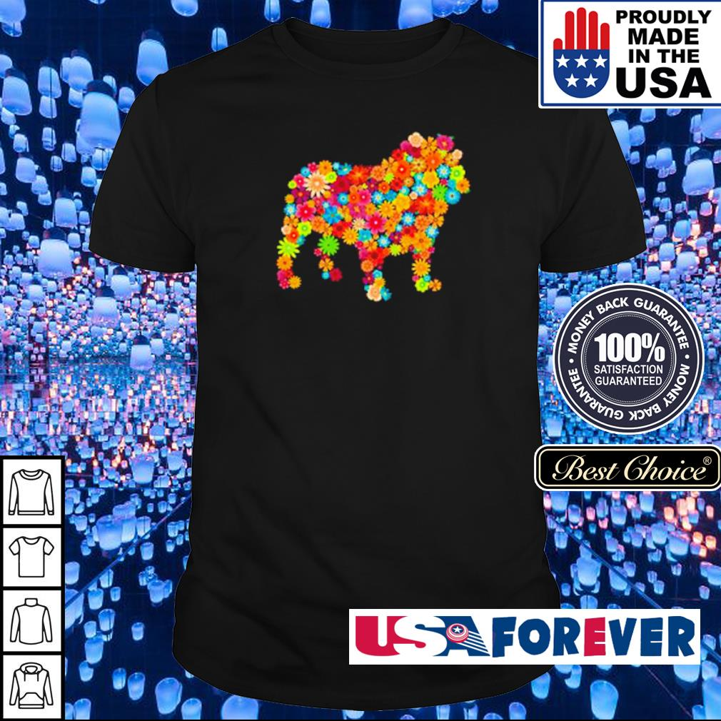 Colorful flowers dogs shirt