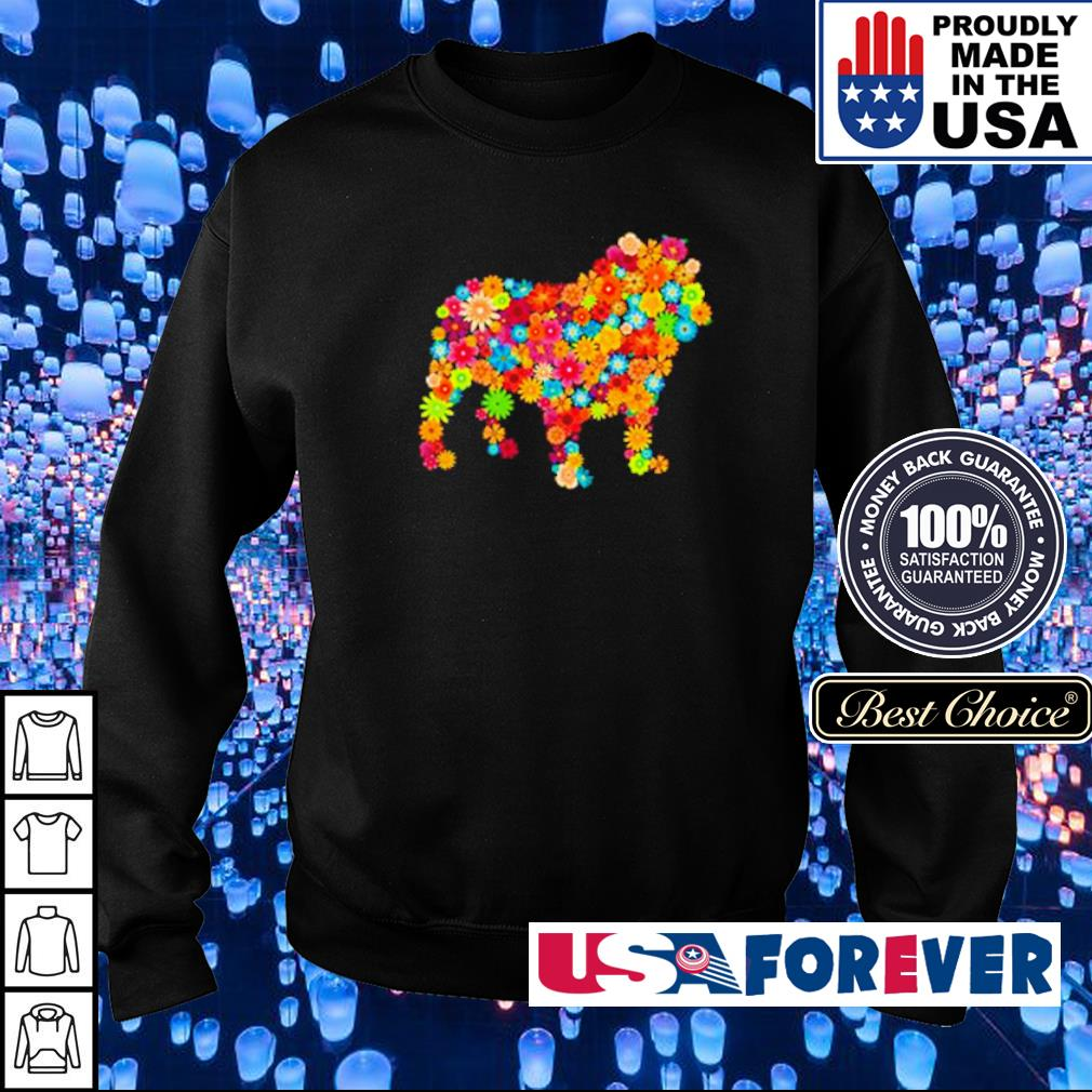 Colorful flowers dogs s sweater