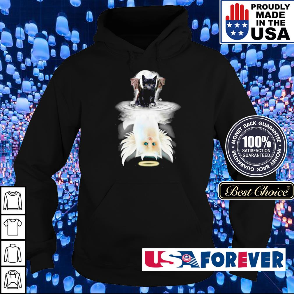 Demon Cat mirror reflection Angel Cat s hoodie