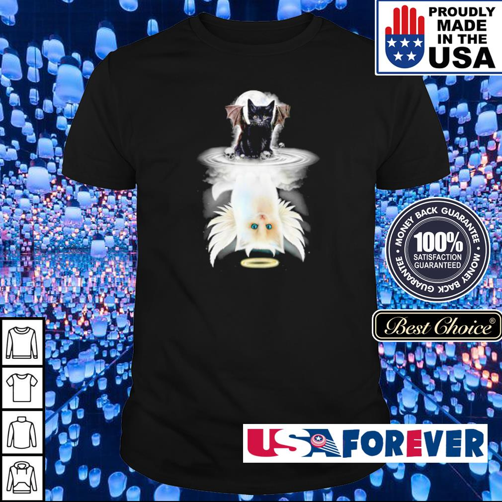 Demon Cat mirror reflection Angel Cat shirt