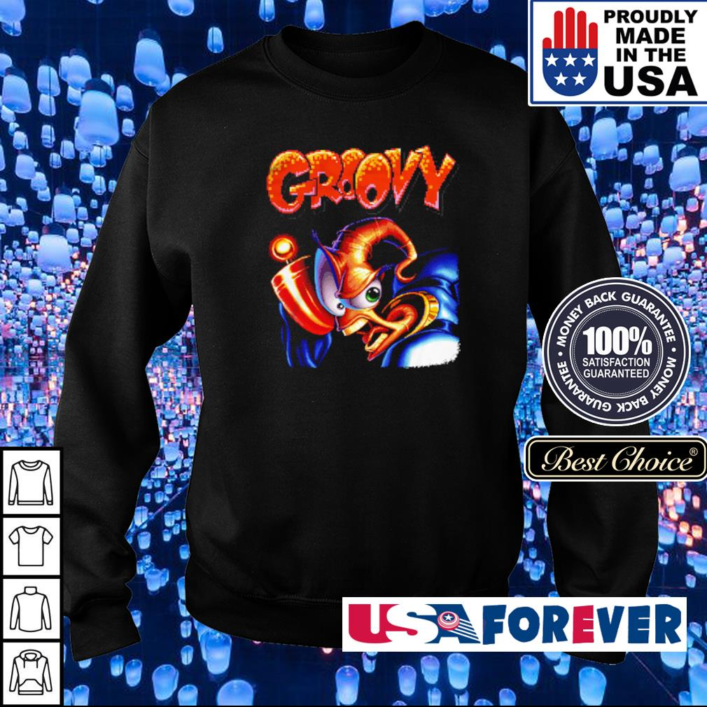 Earthworm Jim black angry Jim Groovy s sweater