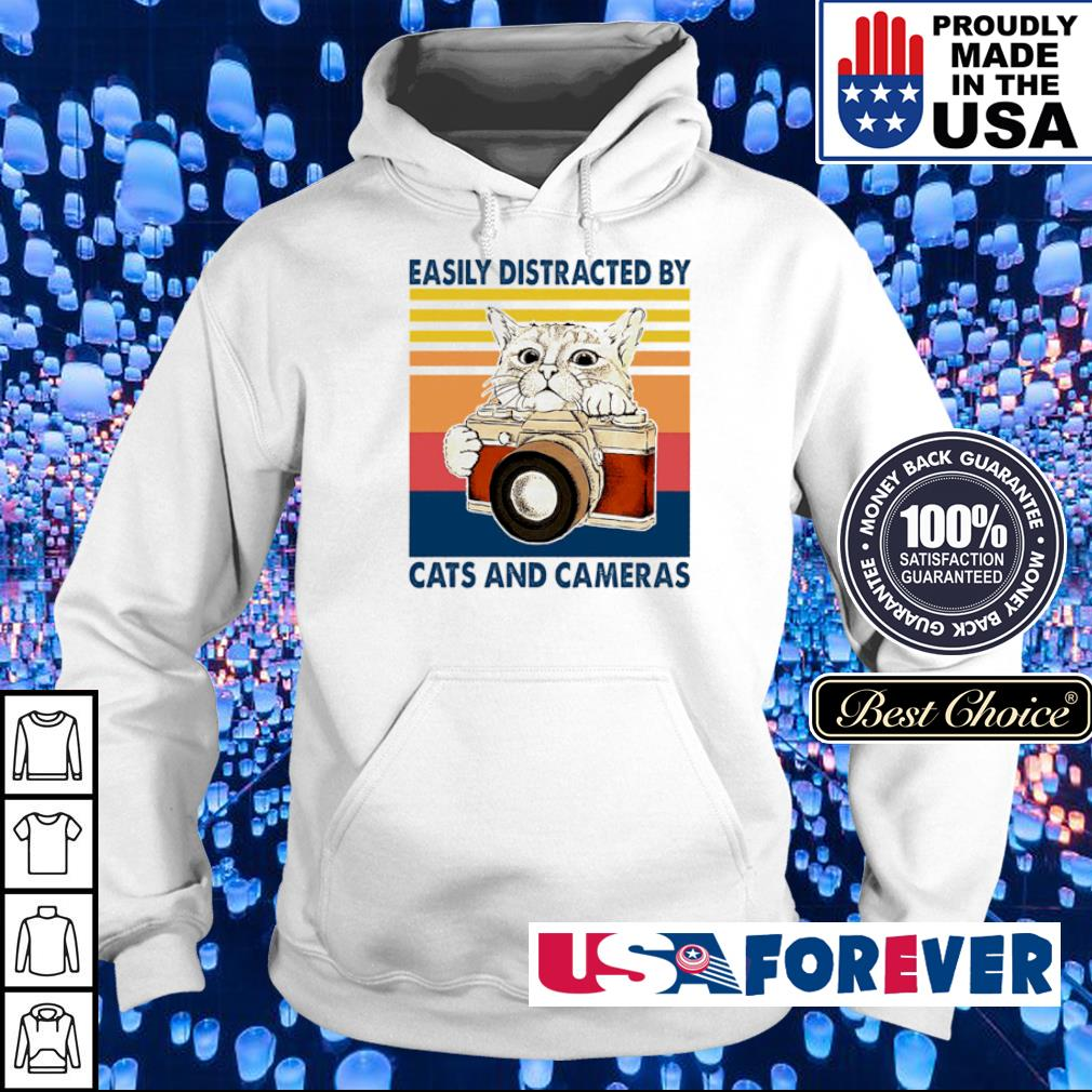 Easily distracted by cats and cameras s hoodie
