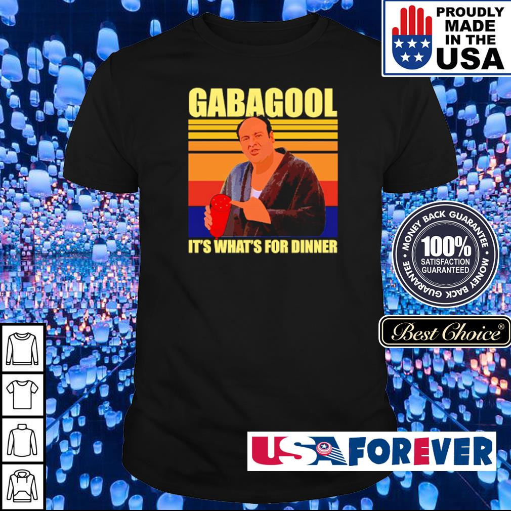 Gabagool it's what's for dinner vintage shirt