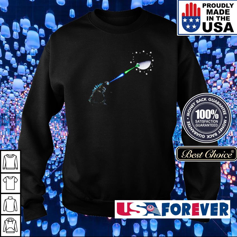 Godzilla And Death Star Fight s sweater