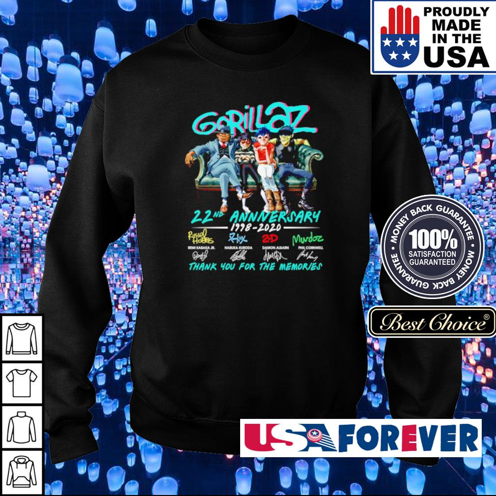 Gorillaz 22nd anniversary thank you for the memories s sweater
