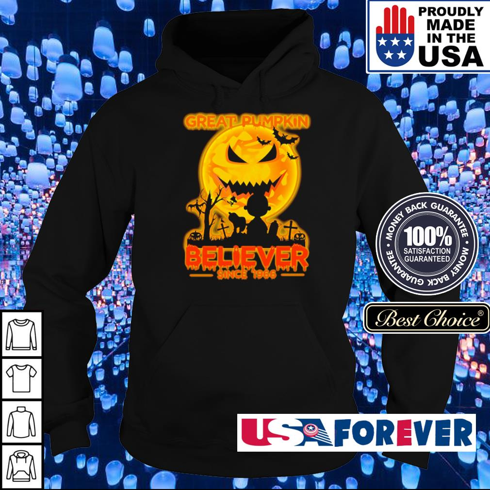 Great pumpkin believer since 1966 s hoodie