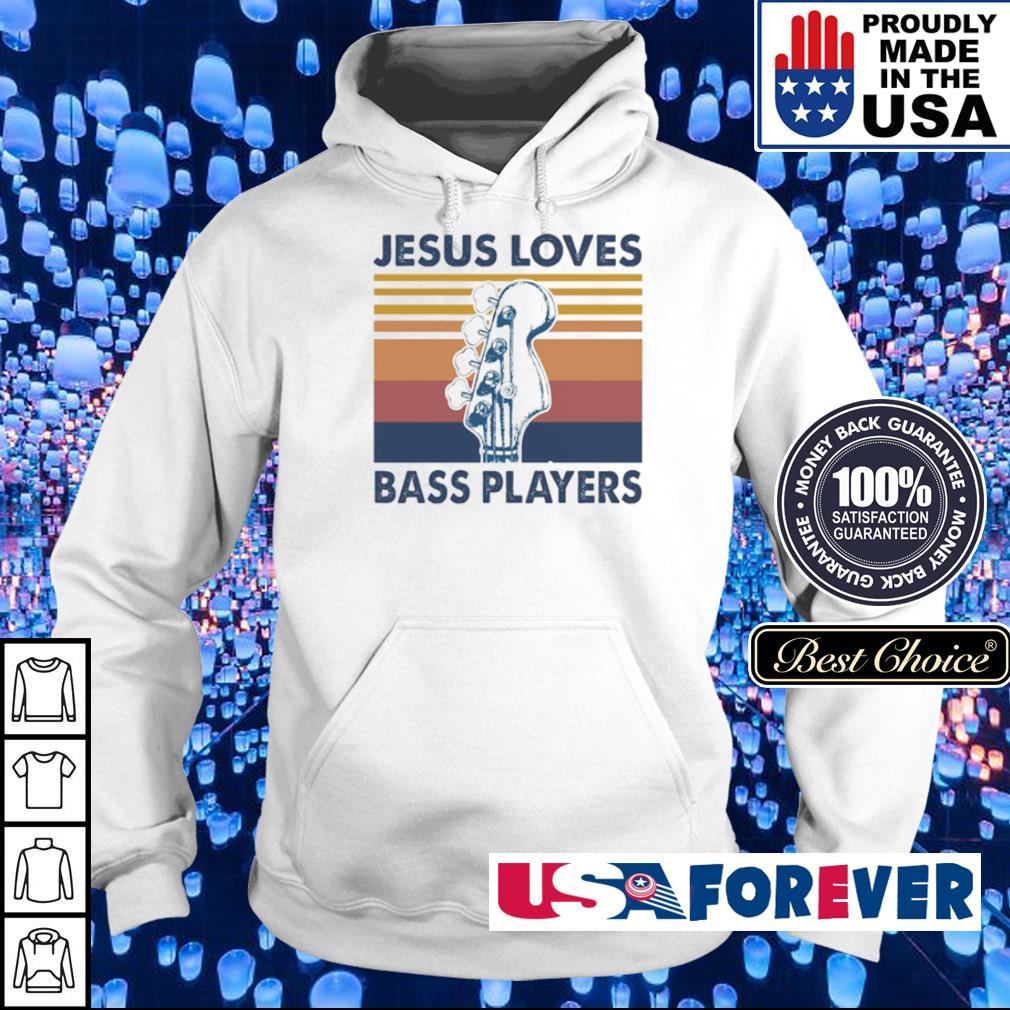 Guitar Jesus loves bass players vintage s hoodie