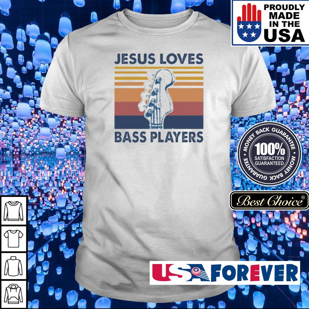 Guitar Jesus loves bass players vintage shirt