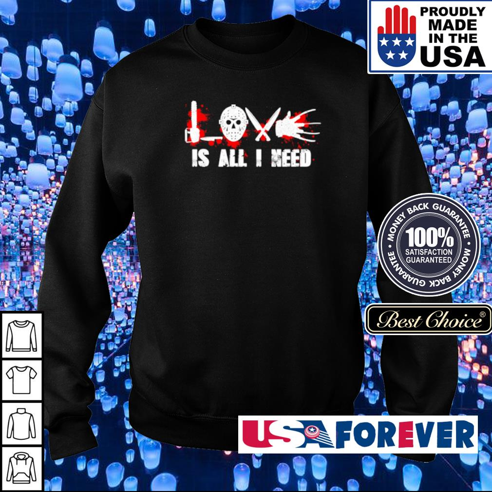 Horror characters Love is all I need s sweater
